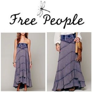 Free People tiered tube dress and maxi skirt